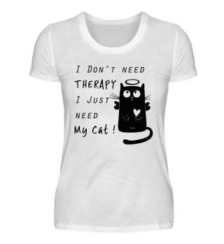 Cat Cats Gift Love Therapy Shirt funny