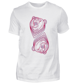 coloured artist bear pink bears