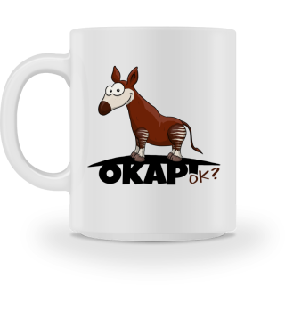 Okapi OK? Waldgiraffe Illustration Tasse