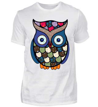 Funny Flower Patchwork Owl