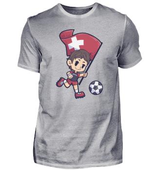 Soccer Switzerland flag Young Child Spor