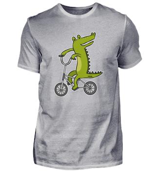 Krokodil Alligator Reptil Fahrrad Kinder
