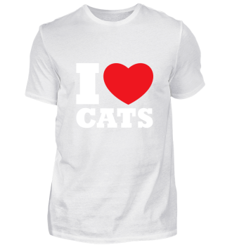 I Love Cats - Animal Birthday Gift