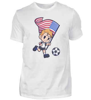 Soccer USA flag Young Child Sport