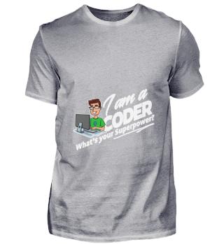 D001-0192A Proud Coder Programmierer - W