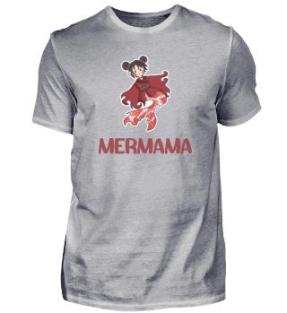 Mermama Meerjungfrau Mutter Koi Kleid