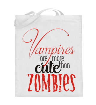 Cute Vampires VS Zombies - red black