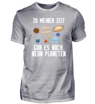 Astronomie Astronom Neun Planeten
