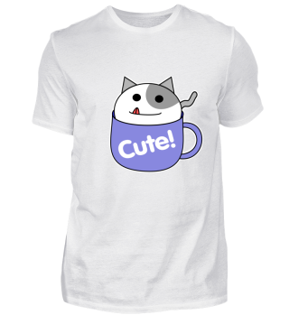 Cup Cat Cute Gift Pet Animal