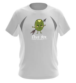 Valentins day Olive you T Shirt