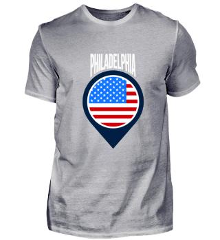Philadelphia City Pin Shirt