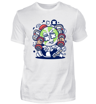 Fitness - Comic - lustig - Shirt