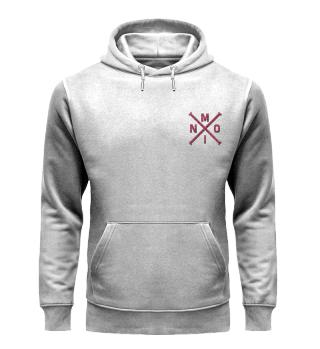 Moin X red bestickt - Premium Bio Hoodie