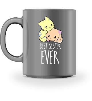 Best Sister Katze Tasse Geschenk