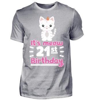 Lustiger Spruch Katze 21. Geburtstag