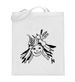 Girl with fruits - Tote-bag