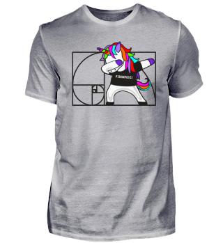 Dabbing Unicorn - Fibonacci Math Dab 1