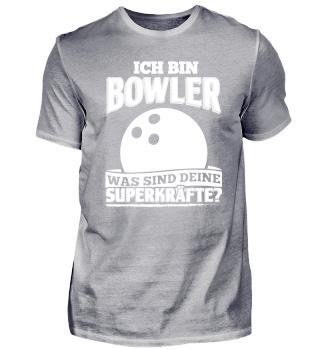 Lustiges Bowling Shirt Ich Bin