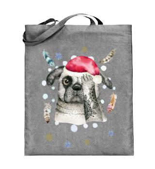 ☛ Merry Christmas · Boho Dog · Hund #9C
