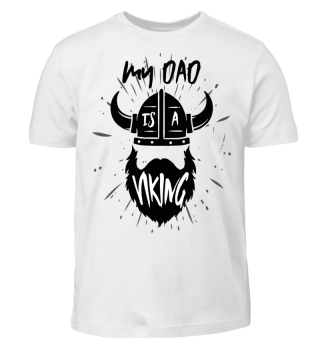 Viking Dad Kid Shirt Boy Girl Gift Beard