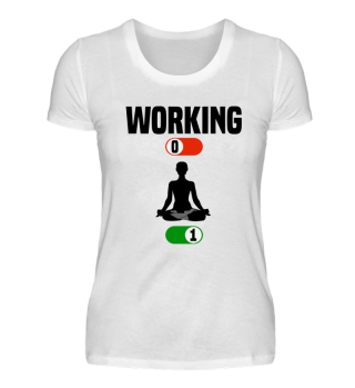 Working Job OFF yoga relaxation sport