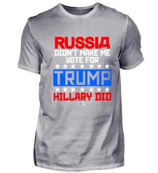 Russia didn't make vote Trump Geschenk