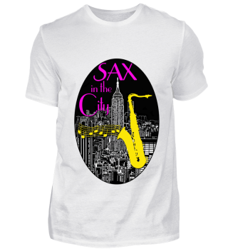 Sax in the City Saxophone Saxplayer gift