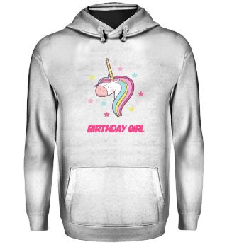 Birthday girl unicorn sweet gif