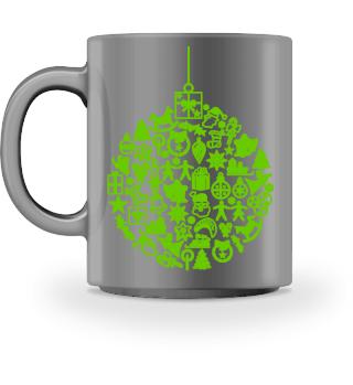 Icons Christmas Tree Ball - green I