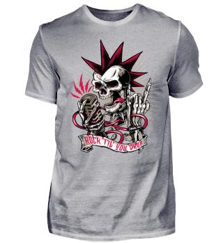 Skull Halloween Biker rock