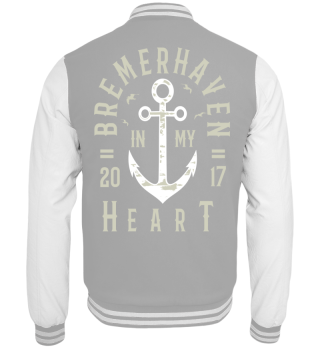 Bremerhaven IN MY HEART Collegejacke
