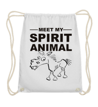 Meet Spirit Animal - mad horse - black