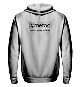 metoo - against sexual violence - black