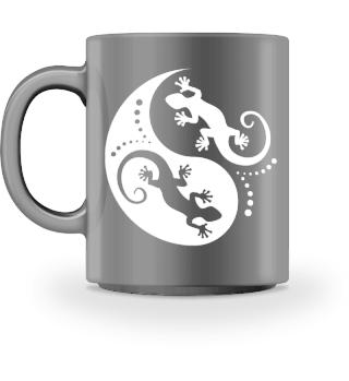 ♥ Yin Yang Geckos - Free White MUG