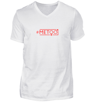 hashtag metoo - gender symbols - red