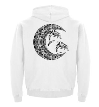 ★ Mandala Half Moon - Dolphins Tattoo 1