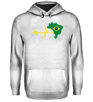 Heartbeat Brazil silhouette gift
