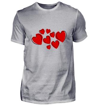 Rote Herze Liebe Geschenk Sport Idee