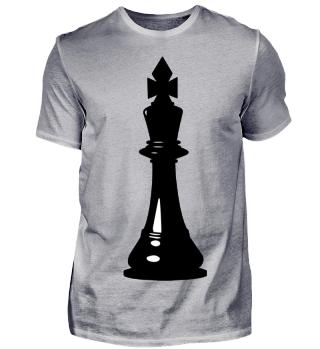 Schachfigur König Schwarz