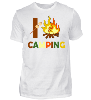 i Love Camping and campfire