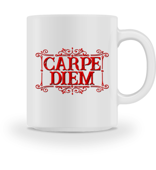 CARPE DIEM - vintage frame red