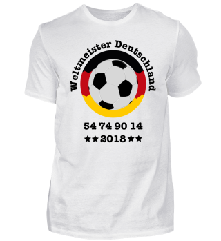 Weltmeister Deutschland 2018 Fußball Fanshirt