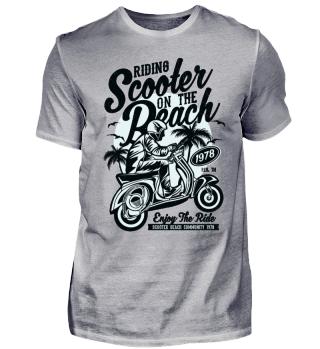 Scooter on the Beach Biker Bike Ride