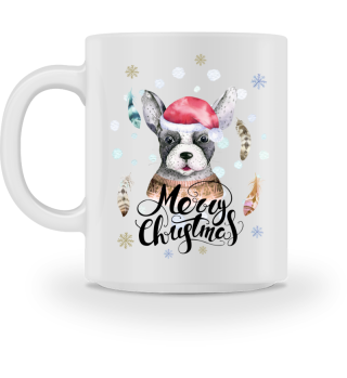 ☛ Merry Christmas · Boho Dog #8BT