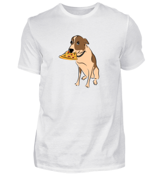 Cute Dog with slice of Pizza Gift Idea