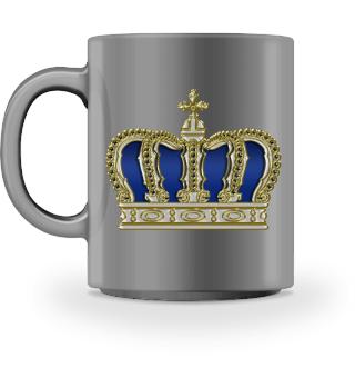 Royal Cross Crown - Gold White Blue