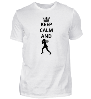 geschenk keep calm and tennis star