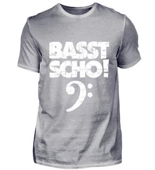 Basst Scho! Vintage Weiß Bass Design