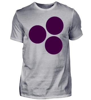 lila Kreise - violettes T-Shirt