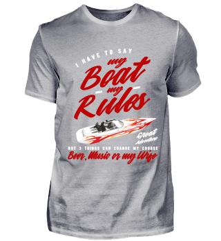 My Boat my Rules Speedboat